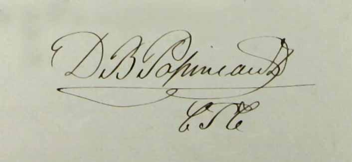 Signature de Denis-Benjamin Papineau